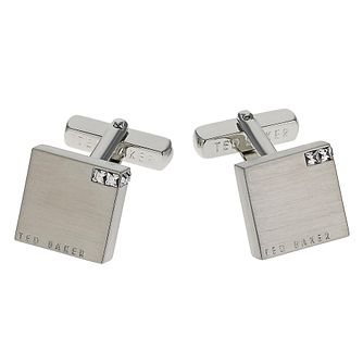 Ted Baker Brass Cornered Blue Crystal Cufflinks - Product number 1864610