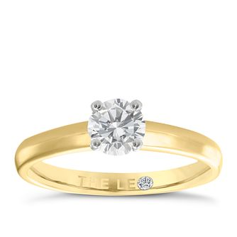 Leo Diamond 18ct yellow & white gold 1/2ct I-I1 ring - Product number 1930281
