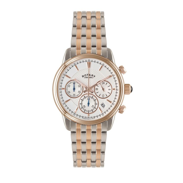 Rotary men's two colour chronograph bracelet watch - Product number 1933035