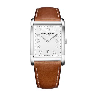 Baume & Mercier Hampton men's tan leather strap watch - Product number 1939440