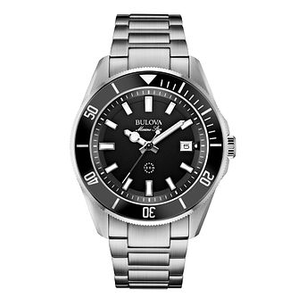 Bulova Men's Marine Star  Stainless Steel Bracelet Watch - Product number 1940392