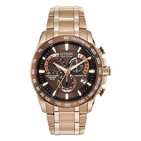 Citizen Eco-Drive Men's Perpetual A-T Bracelet Watch - Product number 1941895