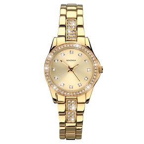 Sekonda Ladies' Starfall Gold Plated Stone Set Watch - Product number 1945971