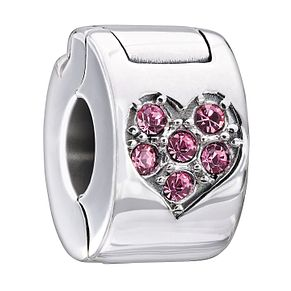Chamilia heart lock with pink Swarovski crystal - Product number 1946765