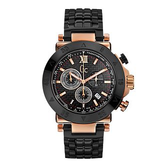 Gc Men's Rose Gold-Plated Black Ceramic Bracelet Watch - Product number 1957872