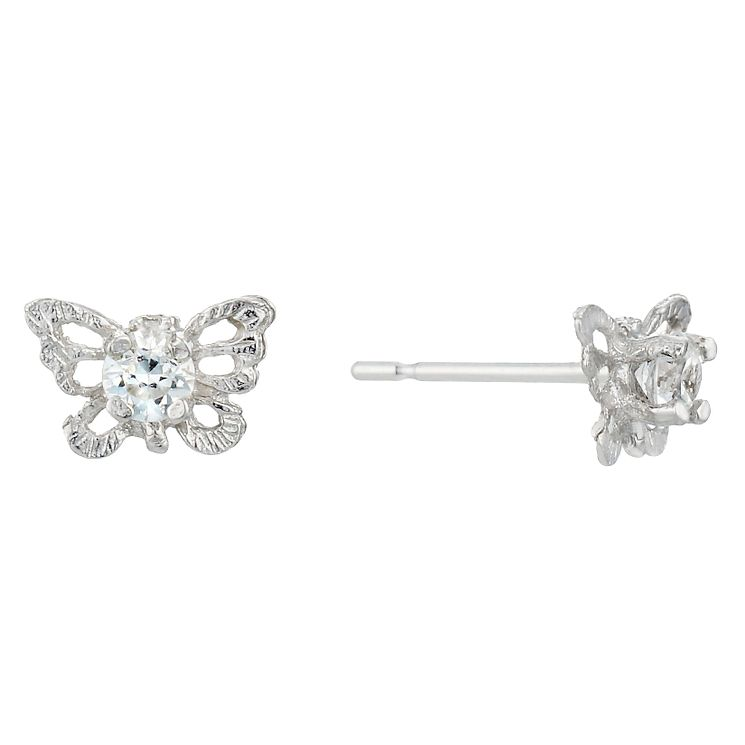 9ct White Gold Cubic Zirconia Butterfly Stud Earrings - Product number 1961640