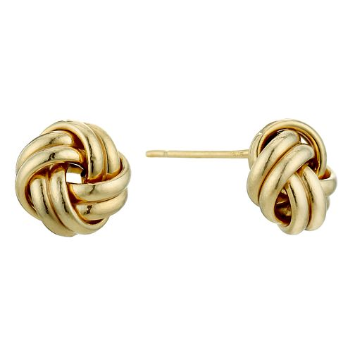 9ct Gold Round Knot Stud Earrings - Product number 1961802