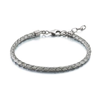 Chamilia Silver Braided Leather One Size Bracelet - Product number 1962620