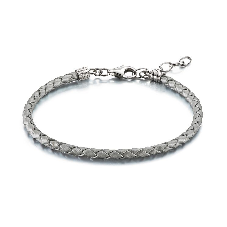 Chamilia Sterling Silver Leather 6.9in Bracelet - Product number 1962620