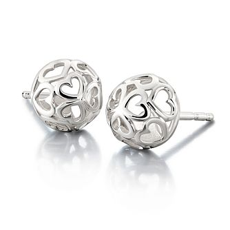 Chamilia Sterling Silver Delicate Hearts Stud Earrings - Product number 1962655