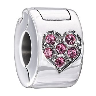 Chamilia Light Pink Swarovski Crystal Jewelled Heart Lock - Product number 1962671