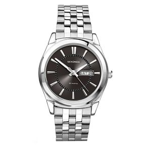Sekonda Men's Black Dial And Stainless Steel Bracelet Watch - Product number 1984527