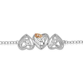 Clogau Silver & 9ct Rose Diamond Eternal Love Bracelet - Product number 1984624