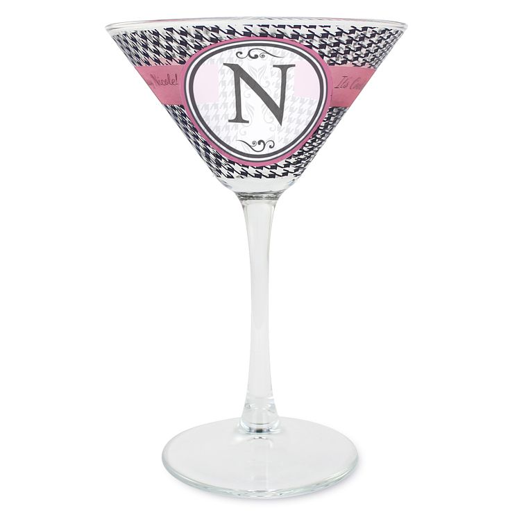 Personalised Cocktail Glass - Houndstooth Design - Product number 1996800