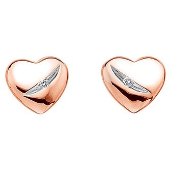 Hot Diamonds Shooting Stars Rose-Gold Plated Stud Earrings - Product number 1997432