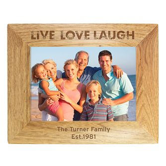 Engraved 5x7 Oak Frame - Live Love Laugh Design - Product number 1997580
