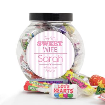 Personalised 'For My Sweet' Sweet Jar - Product number 1997742