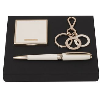 Hugo Boss Ladies' White Ballpoint Pen and Mirror Gift Set - Product number 2002752