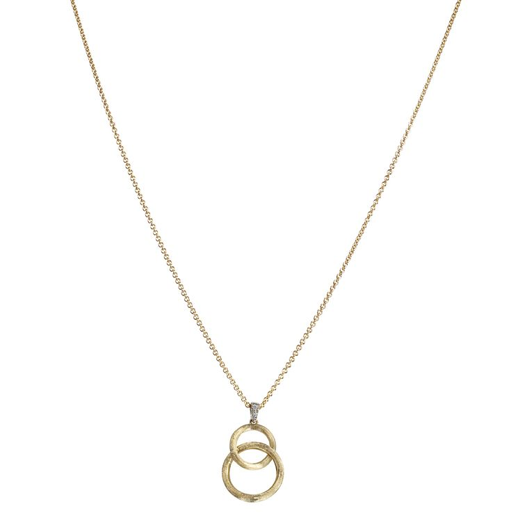 Marco Bicego Delicati 18ct gold diamond set pendant - Product number 2009684