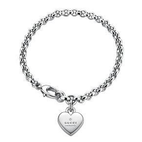 Gucci Trademark sterling silver heart motif bracelet - Product number 2016168