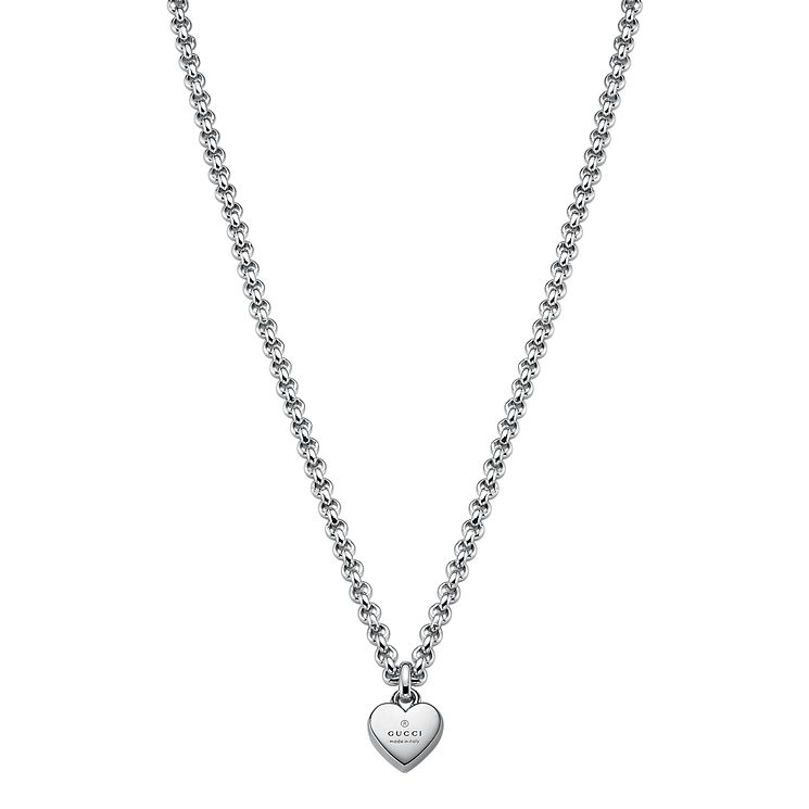 Gucci Trademark sterling silver heart motif necklace - Product number 2016206
