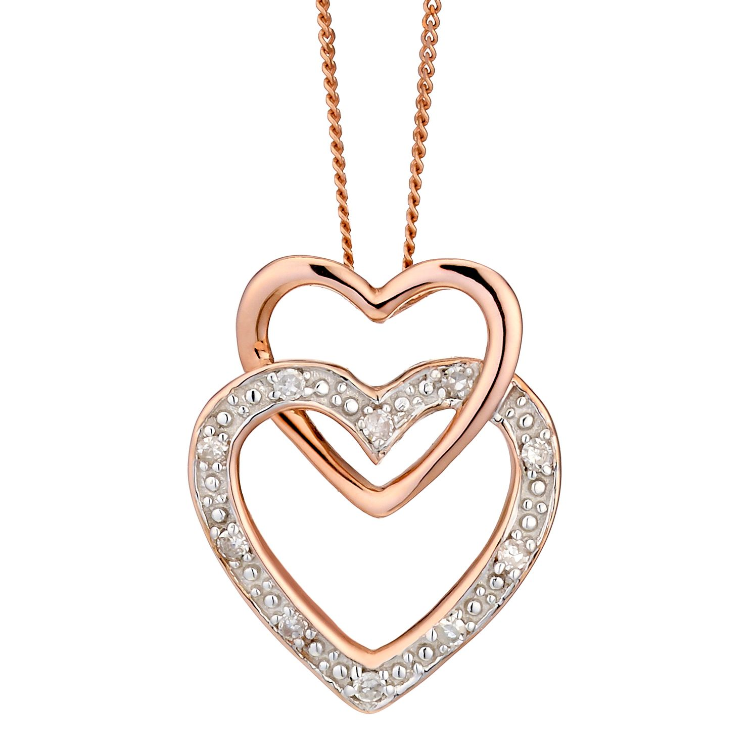 ip walmart with tone accent two heart double canada diamond sterling en love pendant silver i paj you