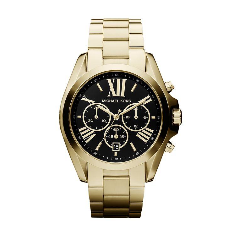 Michael Kors Ladies' Gold Tone Chronograph Bracelet Watch - Product number 2018284