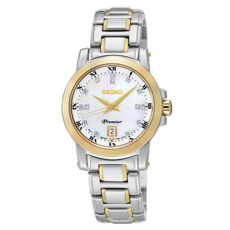 Seiko Premier Ladies' Two Colour Bracelet Watch - Product number 2018853