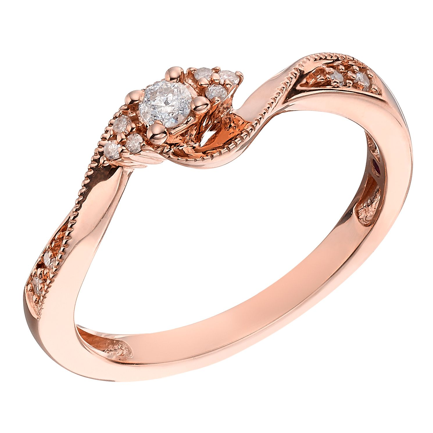 boutique diamond gold ring en rose happiness rings