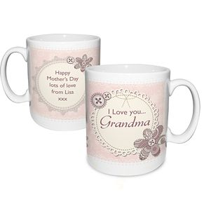 Personalised Mug - Lace & Flowers Design - Product number 2032201