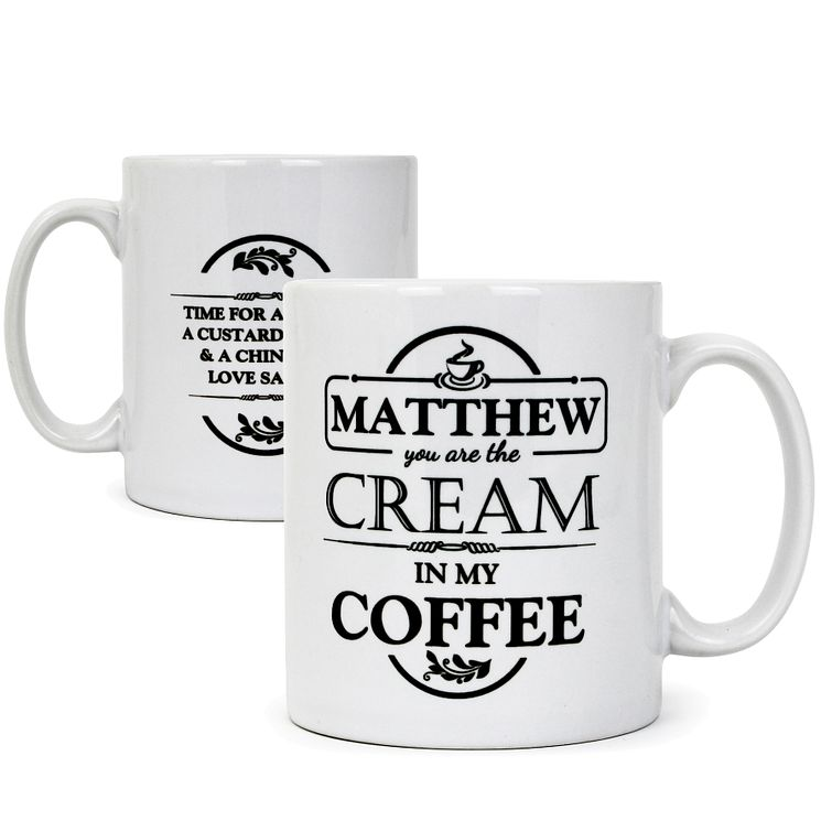 Personalised 'The Cream in my Coffee' Mug - Product number 2032627