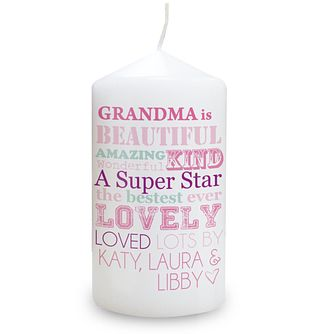 Personalised She Is Design Candle - Product number 2032635