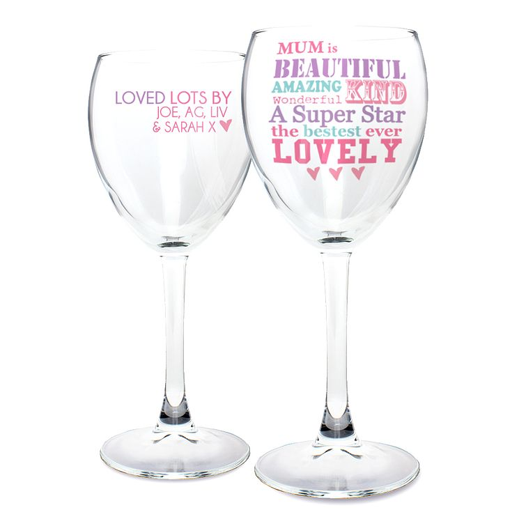 Personalised She Is Design Wine Glass - Product number 2032643