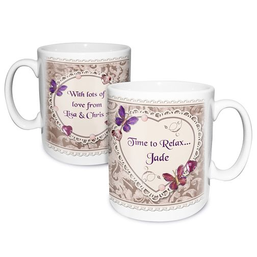 Personalised Mug - Butterfly Gem Design - Product number 2032716