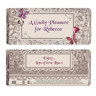 Personalised Chocolate Bar - Butterfly Gem Design - Product number 2032872