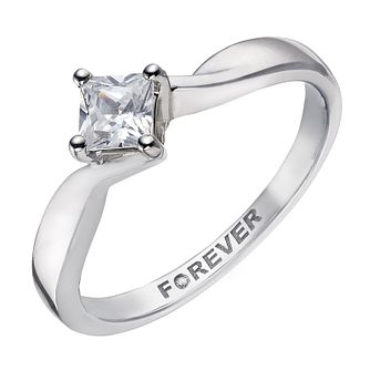 Palladium 1/3 Carat Forever Diamond Ring - Product number 2038382