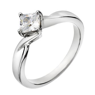 Palladium 1/2 Carat Forever Diamond Ring - Product number 2038676