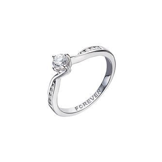 Palladium 0.35 Carat Forever Diamond Ring - Product number 2038986
