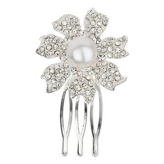 Mikey Bridal Crystal And Imitation Pearl Flower Hair Pin - Product number 2049732