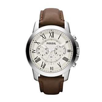 Fossil Grant men's leather strap watch - Product number 2051044