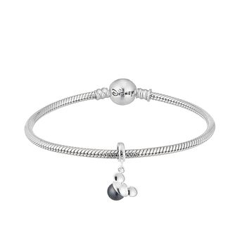Disney Mickey Mouse Black Pearl Charm & Bracelet Set - Product number 2060353