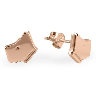 Radley 18ct Rose Gold Plated Silver Scottie Stud Earrings - Product number 2080141