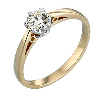 18ct Gold Third Carat Diamond Solitaire Ring - Product number 2080621