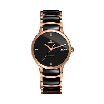 Rado men's black ceramic & rose gold-plated bracelet watch - Product number 2088169