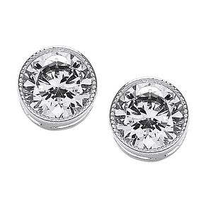 Buckley London Round Milgrain Stud Earrings - Product number 2118688