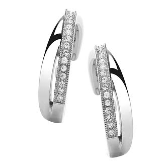 Buckley London Crystal Crossover Hoop Earrings - Product number 2118947