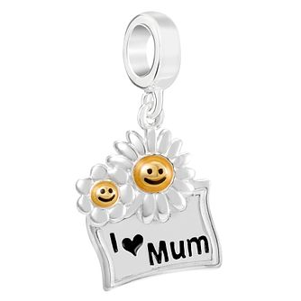 Chamilia Sterling Silver I Heart Mum Daisy Charm - Product number 2144514