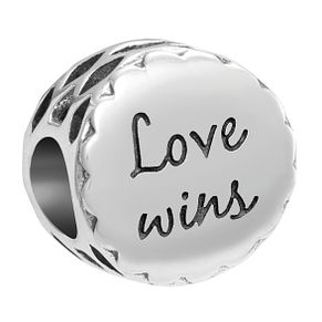 Chamilia Inspirations Sterling Silver Love Wins Bead - Product number 2144530
