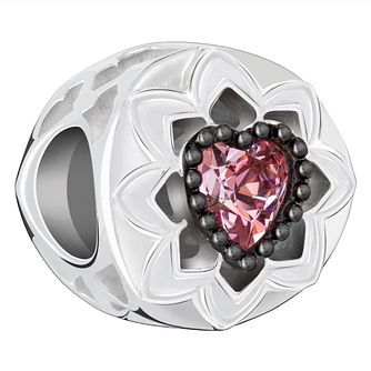 Chamilia Sterling Silver Pink Swarovski Crystal Hearts Charm - Product number 2146002