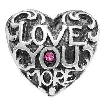 Chamilia Sterling Silver Love You More Love Heart Charm - Product number 2146118